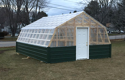 Greenhouse built by the Alpha Chi Nu officer team